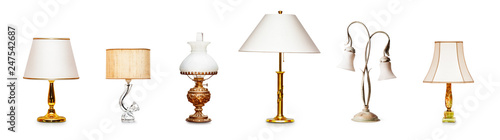 Fotomural Vintage table lamps set
