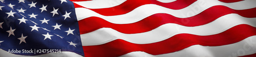 Wall Murals United States American Wave Flag