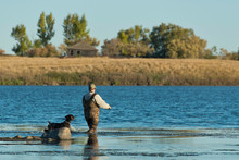 A Duck Hunter And His Dog In N...