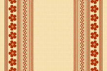 Hawaiian Background In Polynesian Style With Traditional Folk Ornaments.