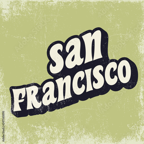 Photo sur Aluminium Retro sign san francisco poster