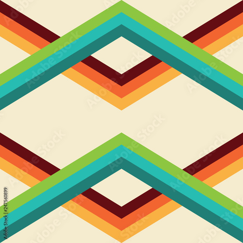 Photo sur Aluminium Retro sign retro seamless pattern