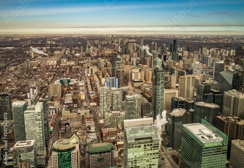 Aluminium Prints Sydney Toronto building vieved from above. Toronto, Ontario, Canada.