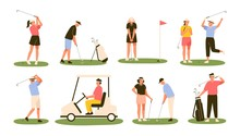 Collection Of Golf Players Iso...