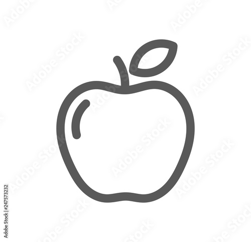 Canvas Apple line icon.