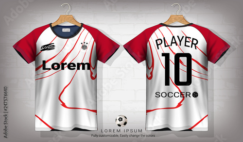 Soccer Jersey And T Shirt Sport Mockup Template Graphic Design For