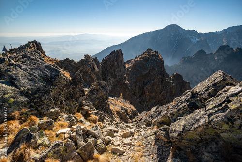 Photo  Autumn mountain landscape