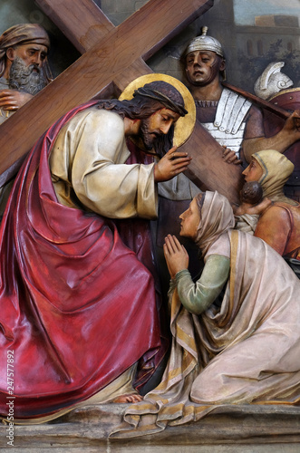 Fotografija 8th Stations of the Cross,Jesus meets the daughters of Jerusalem, Basilica of th