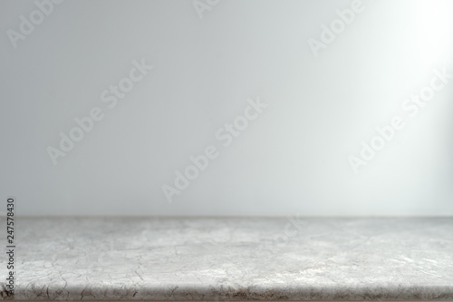 Fotografia White Marble Table Top can used for display or montage your products