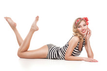 Sexy Blond Pin Up Girl