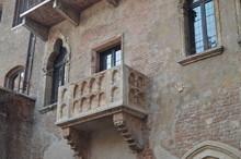 Balcony Of Juliet's House In Verona. Travel, Holidays, Architecture. March 30, 2015. Verona, Veneto Region, Italy.