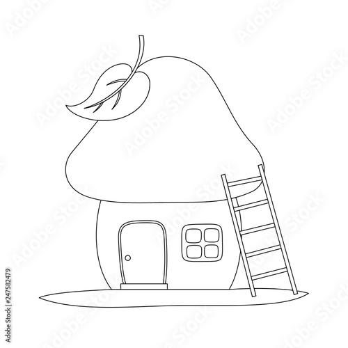 Fotografie, Obraz  Fairy tale house in a mushroom