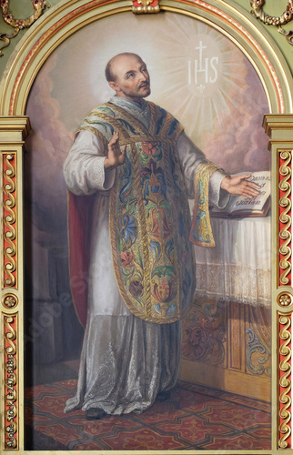 Photo Saint Ignatius of Loyola, altarpiece in the Basilica of the Sacred Heart of Jesu