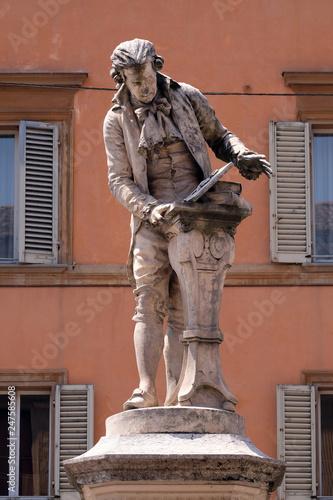 Monument of Luigi Galvani, Italian physician, physicist and philosopher in Bolog Tableau sur Toile