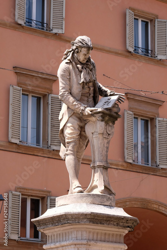 Monument of Luigi Galvani, Italian physician, physicist and philosopher in Bolog Canvas Print