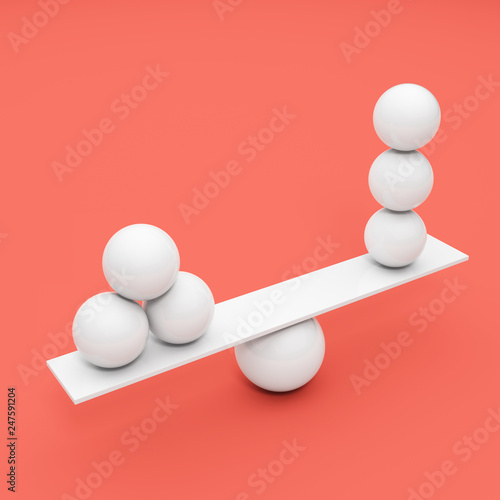 Fotografie, Obraz  Balancing ball