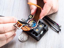 Watchmaker Installs Battery In Quartz Wristwatch