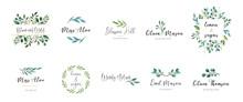 Elegant Logos, Wedding Monograms, Hand Drawn Elegant, Delicate Collection