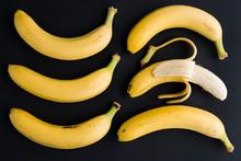 Banana On Black Background