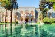 Leinwanddruck Bild - Beautiful view of the Golestan Palace and scenic pond, Tehran