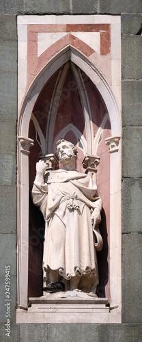In de dag Kinderkamer The Bearded Prophet by Nanni di Bartolo, Campanile (Bell Tower) of Cattedrale di Santa Maria del Fiore, Florence, Italy