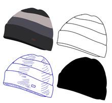 White Background, Winter Hat, ...