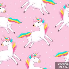 Unicorn. Magic. Cartoon sty...