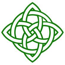 Green Celtic Knot Symbol