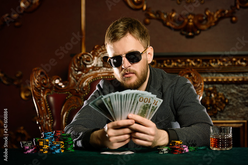 Photographie  poker in casino
