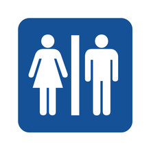 Female And Male Toilet Icon Symbol