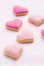 Heart Shaped Cookies With Pink...