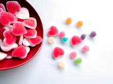 Jelly Candy In A Dish Isolated...