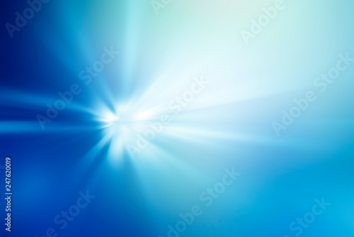 Fotografia  abstract blue light background