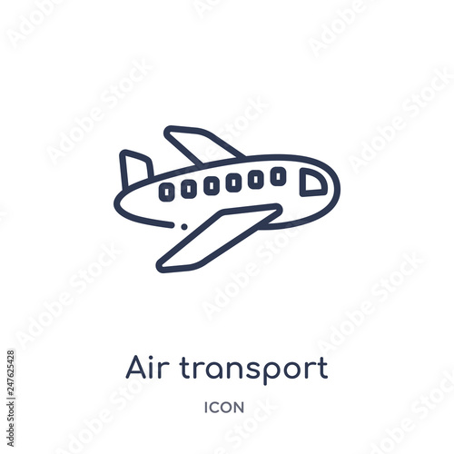 Fotografia, Obraz  air transport icon from transport outline collection