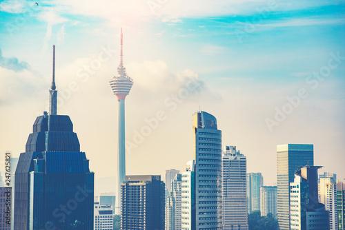 Poster de jardin Kuala Lumpur Kuala Lumpur City Centre Skyline