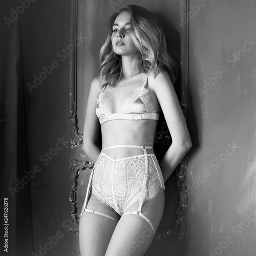 Poster womenART Fashion art photo of beautiful sensual woman in sexy lingerie