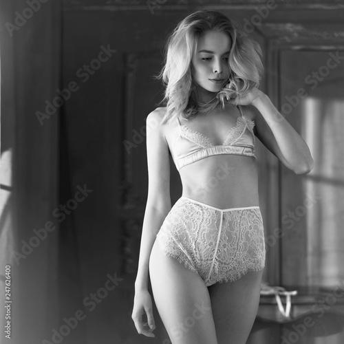 Foto op Canvas womenART Fashion art photo of beautiful sensual woman in sexy lingerie
