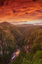 Sunset At Tallulah Gorge State...