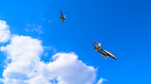Two Military Aircraft Flying A...