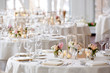 canvas print picture - Wedding table set for fine dining