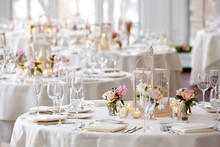 Wedding Table Set For Fine Din...