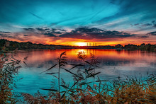 Allersee Sonnenuntergang