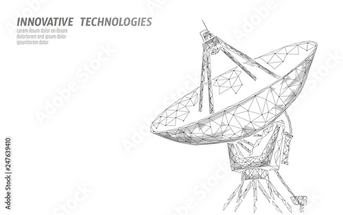 Fotomural Polygonal radar antenna space defence abstract technology concept