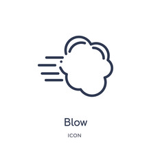 Blow Icon From Weather Outline...