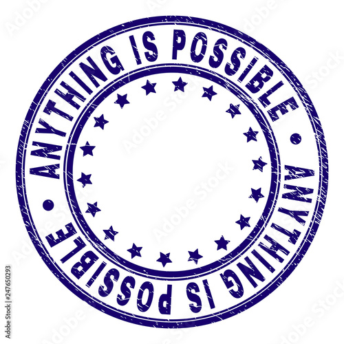 ANYTHING IS POSSIBLE stamp seal watermark with distress texture Canvas-taulu