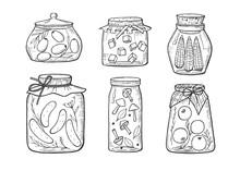 Homemade Pickles Jars Set