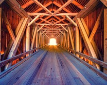 Inside Lowe's Covered Bridge I...
