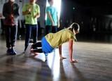 dancing breakdance girl