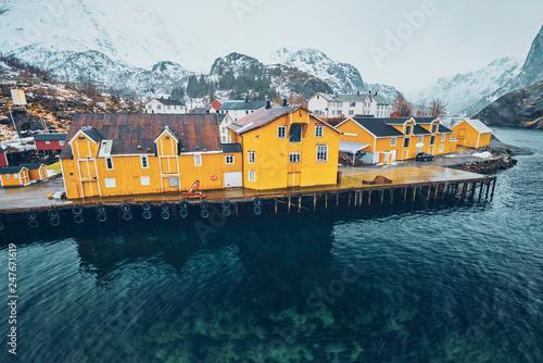 Papiers peints Pays d Afrique Nusfjord fishing village in Norway