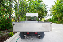 Electro Truck On Tropical Road